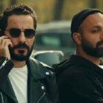 نوید محمدزاده در کنار مانلی رسولی بازیگر خردسال سریال قورباغه