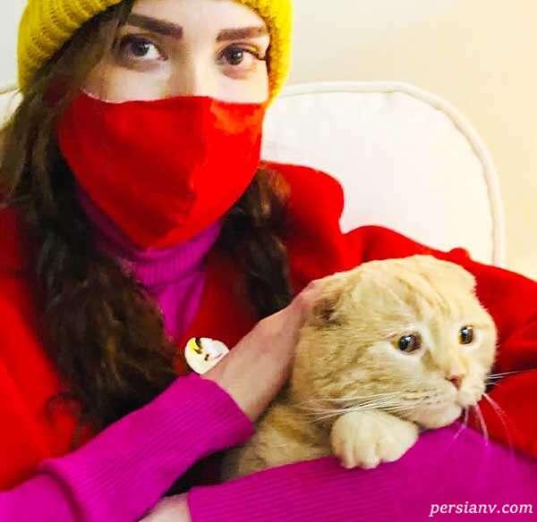 بهنوش طباطبایی با گربه