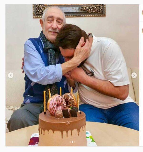 محمد علیزاده در کنار پدرش