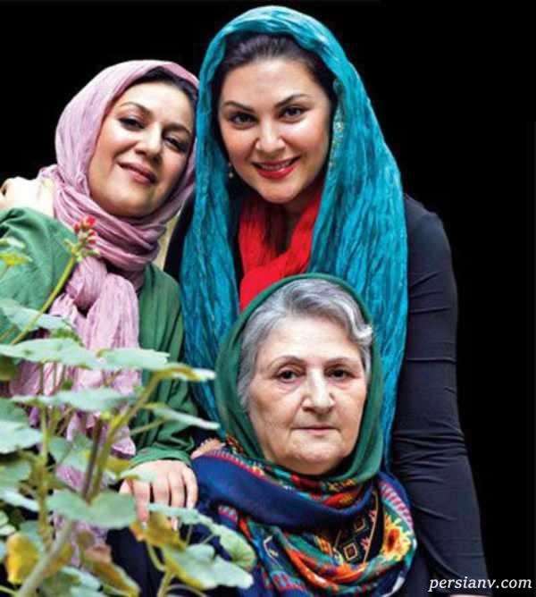 بازیگران خواهر در کنار مادرشان
