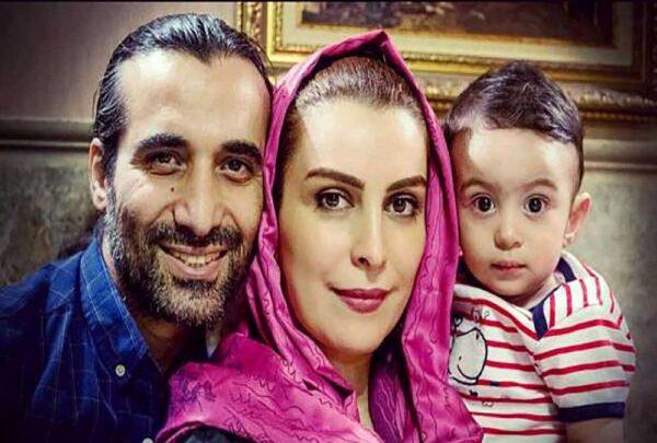ماه چهره خلیلی و همسر و فرزندش