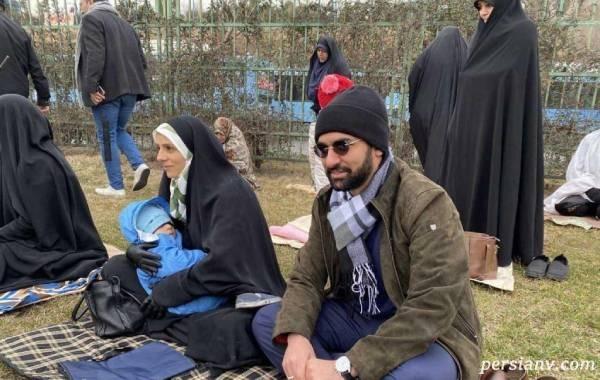 محمدجواد آذری جهرمی و مادرش