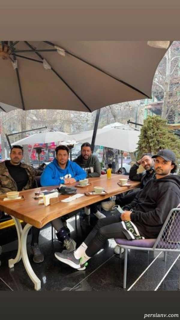 محمدرضا گلزار و دوستانش