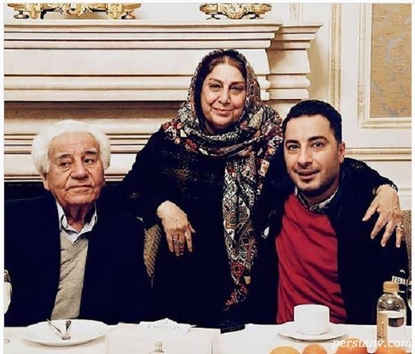 نوید محمدزاده و پدر و مادرش