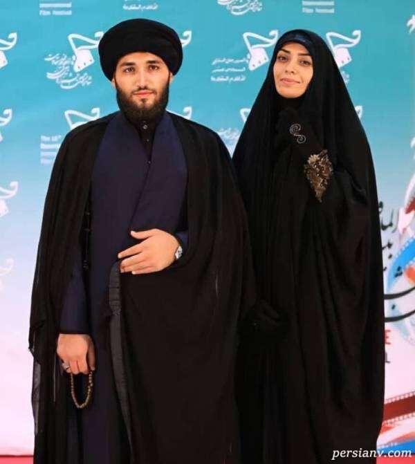 عکس جدید الهام چرخنده با همسرش