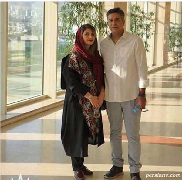 عکس جدید حمیدرضا پگاه و همسرش