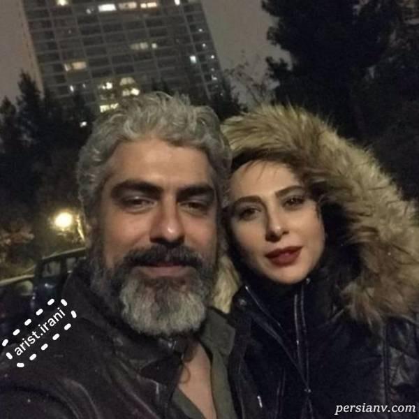 عکس جدید مهدی پاکدل و همسرش