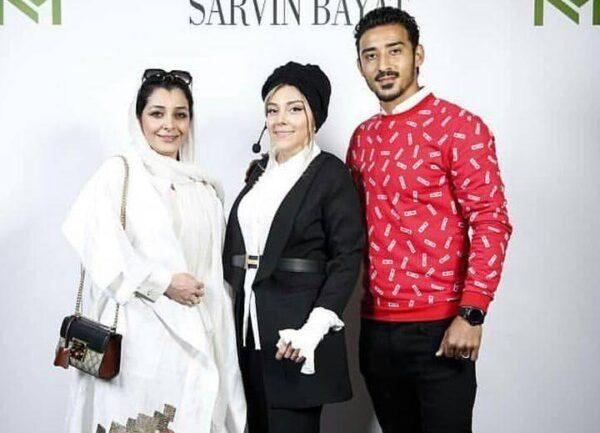 رضا قوچان نزاد و همسرش