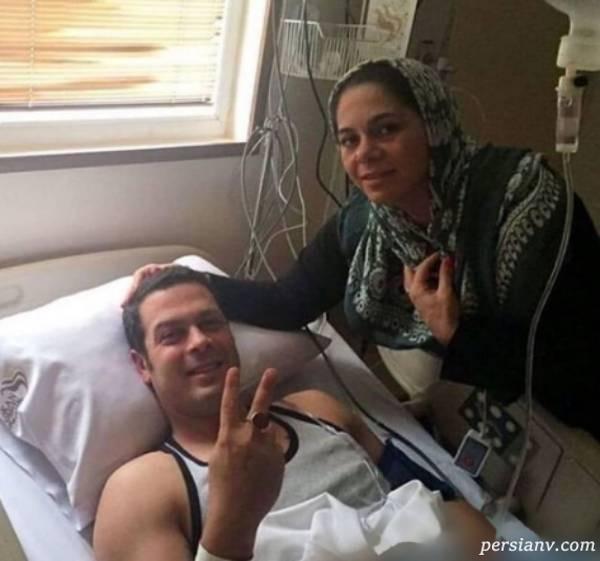 پژمان بازغی در بیمارستان
