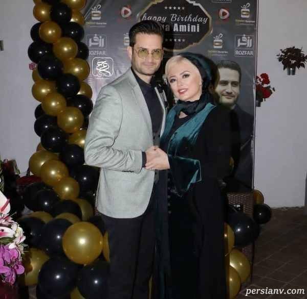 عکس از پویا امینی و همسرش