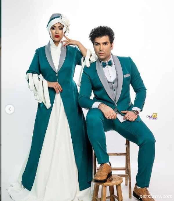 عکس های فریبا طالبی با همسرش