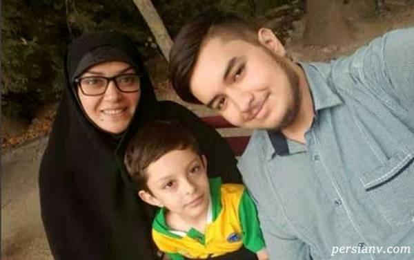 بازیگر زن و پسرانش