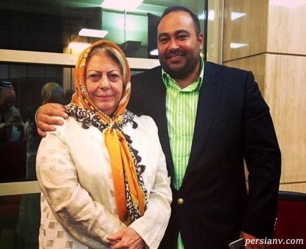 هنرپیشه زن و پسرش