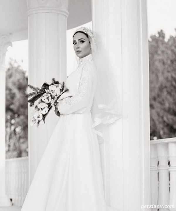 سالگرد ازدواج بازیگر زن