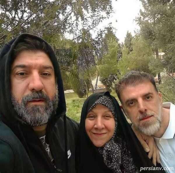 علی انصاریان و مادر و برادرش