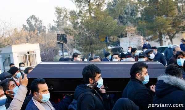 پسر سید حسن خمینی در مراسم تشییع علی انصاریان