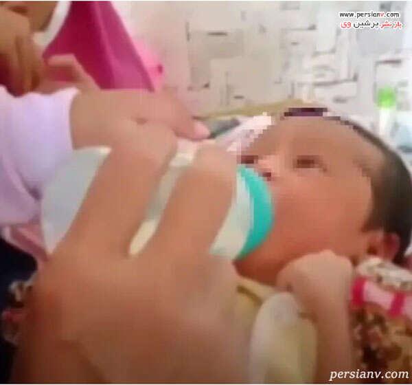 نوزاد دختر زن جوان