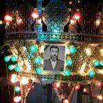 مراسم خاکسپاری علی انصاریان مرحوم در بهشت زهرا