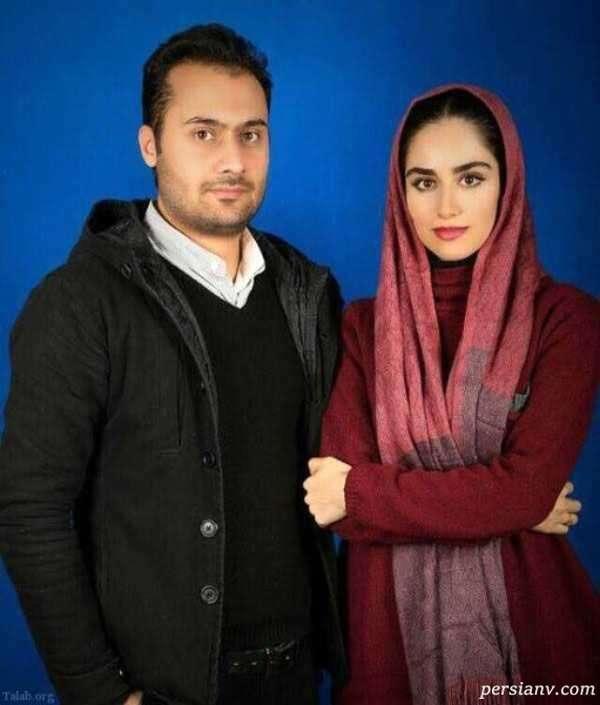 هانیه غلامی بازیگر سینما و همسرش