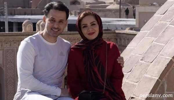 مبینا نصیری با همسرش