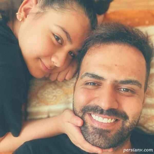 رضا شیری و دخترش