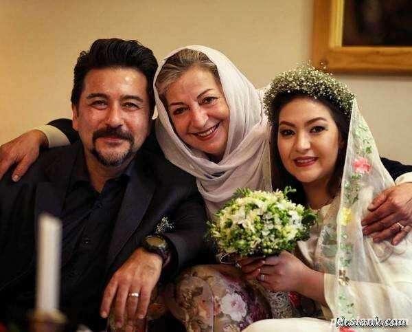 امیرحسین صدیق و همسرش باران