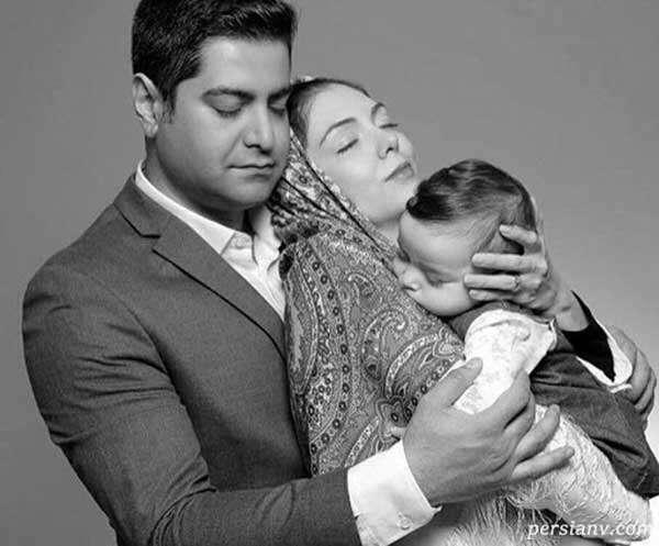 تبریک نوروزی آزاده نامداری و دخترش سر سفره هفت سین