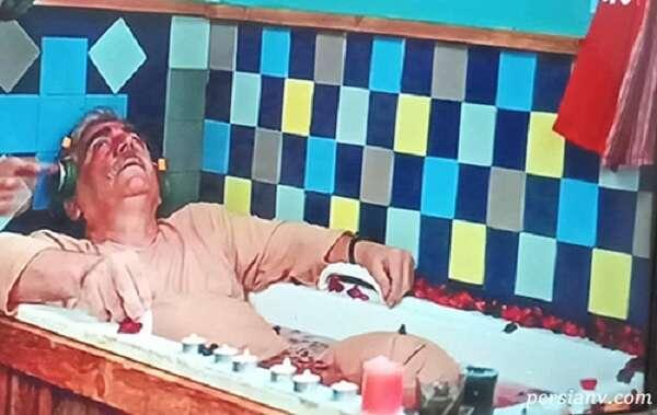 حمام کردن بازیگر