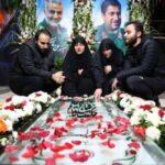 دختر و پسران سردار سلیمانی در مراسم تولد پدر شهید
