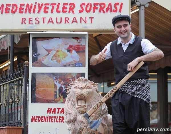 بوراک اوزدمیر سرآشپز معروف ترکیه ایی بر فراز آسمان آشپزی کرد