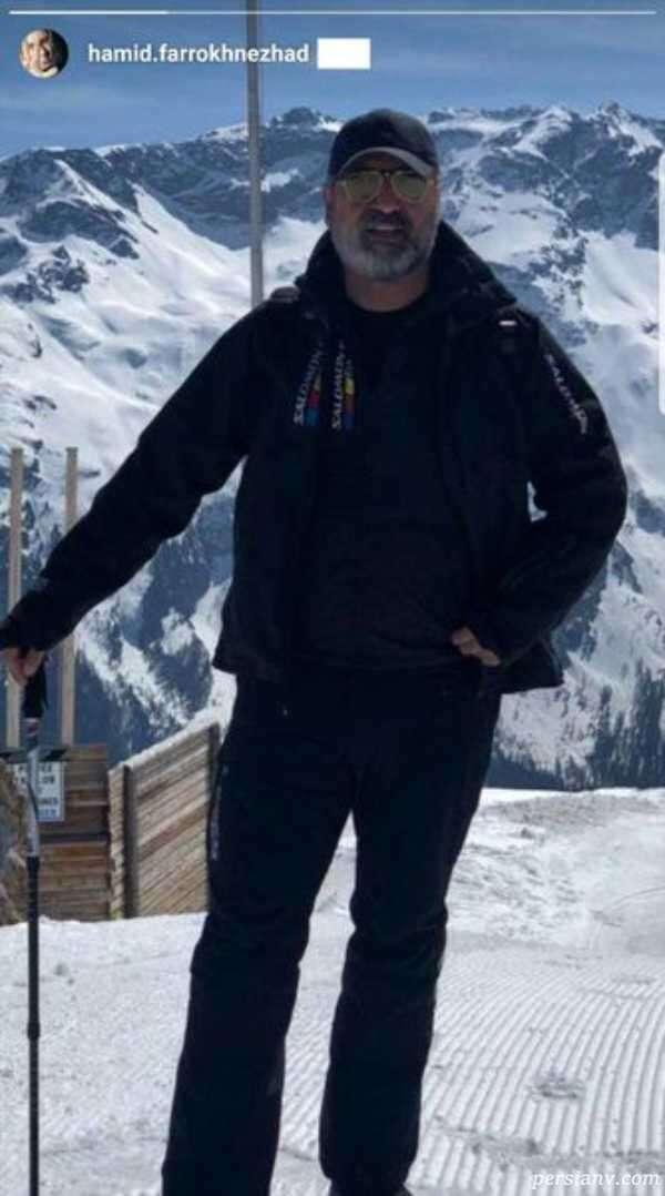 حمید فرخ نژاد در پیست اسکی