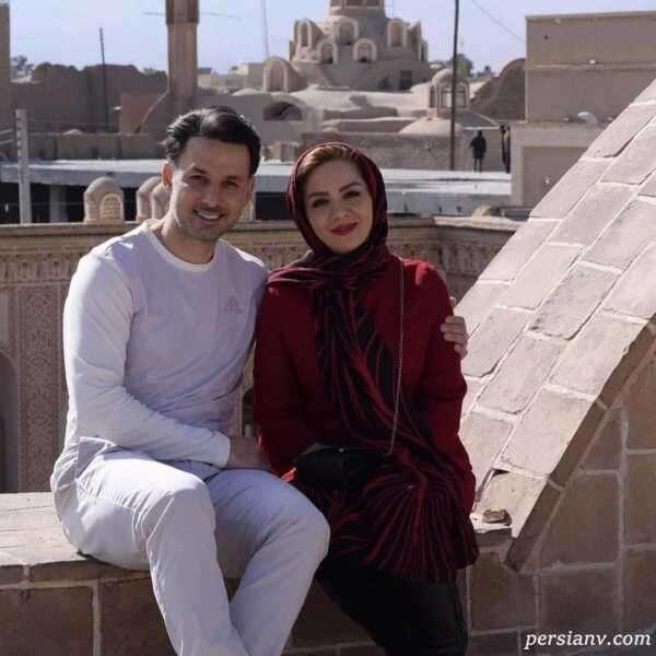 مبینا نصیری و همسرش
