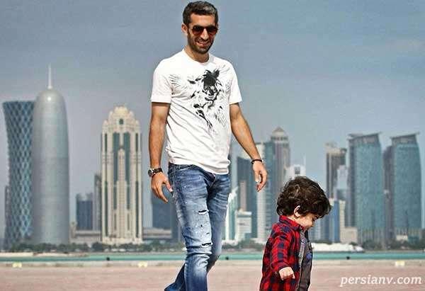 بازیکن فوتبال و پسرش