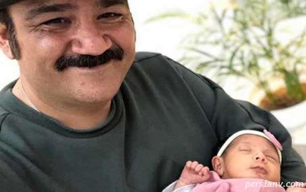 عکس مهران غفوریان و دخترش هانا در نوروز۱۴۰۰