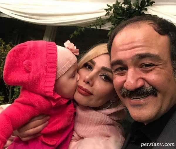 مهران غفوریان و همسر و دخترش