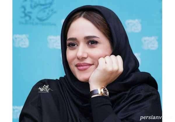عکس سلفی پریناز ایزدیار در خودروی لاکچری اش