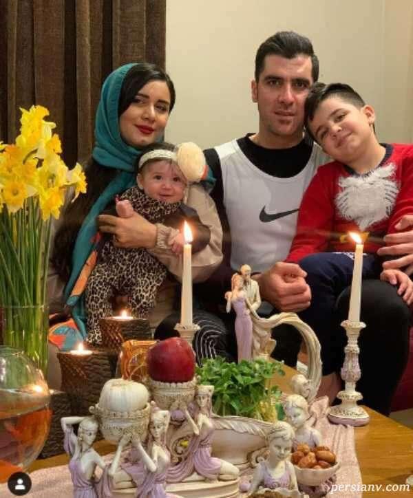 شهرام محمودی با همسرش