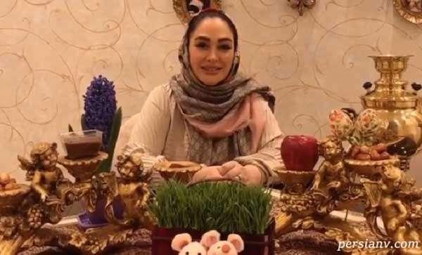 الهام حمیدی بازیگر نوروز ۱۴۰۰ را سر سفره هفت سین تبریک گفت