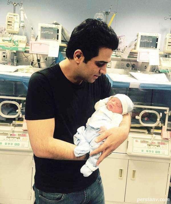 تولد پسر حمید عسکری خواننده