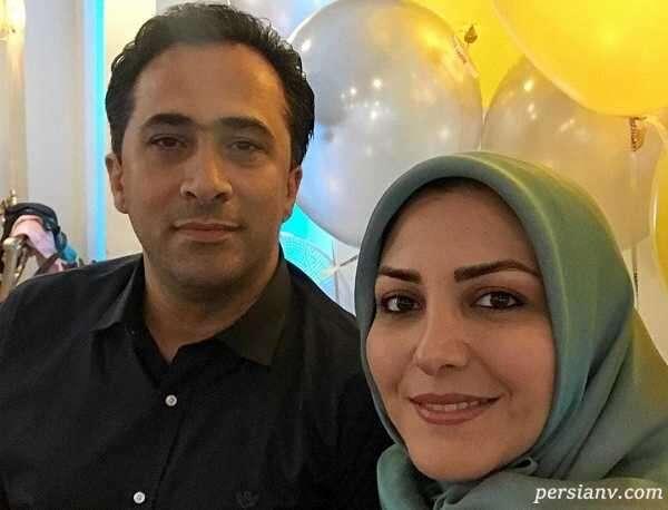 داوود عابدی و همسرش در میان سایر گویندگان صدا و سیما