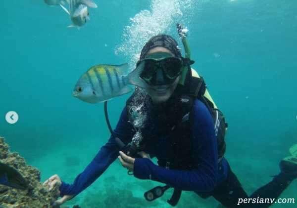 پریا پرتوی فر زیر آب