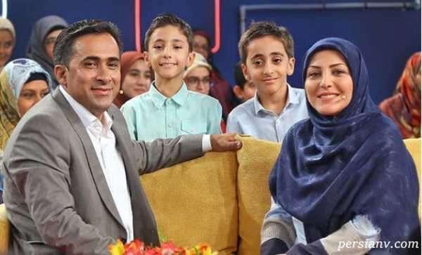 المیرا شریفی مقدم مجری اخبار به همراه همسرش