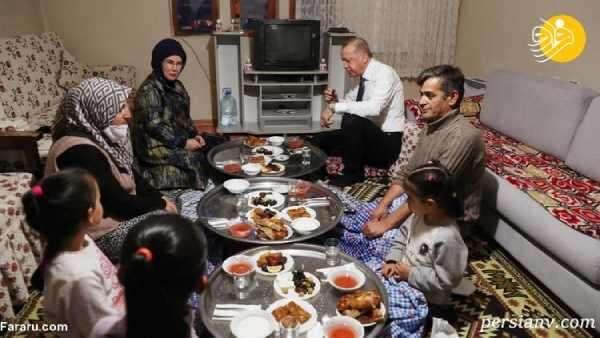 اردوغان و همسرش