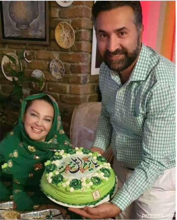 کیک میلاد امام حسن مجتبی بهاره رهنما و همسرش