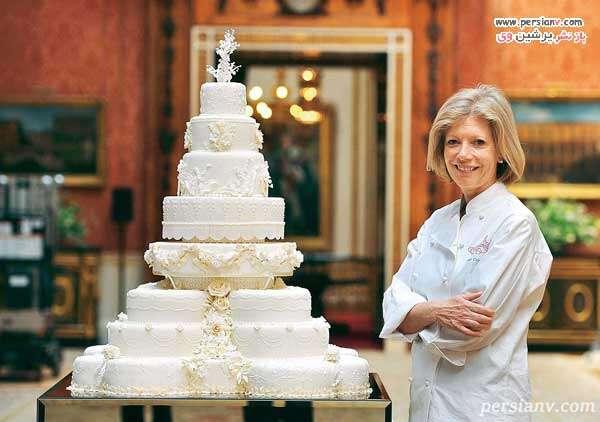 کیک عروسی هشت طبقه