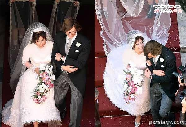 لیدی گاگا در لباس عروس