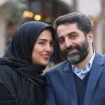 عکس ژیلا صادقی و همسر در کنار یکدیگر در خیابان