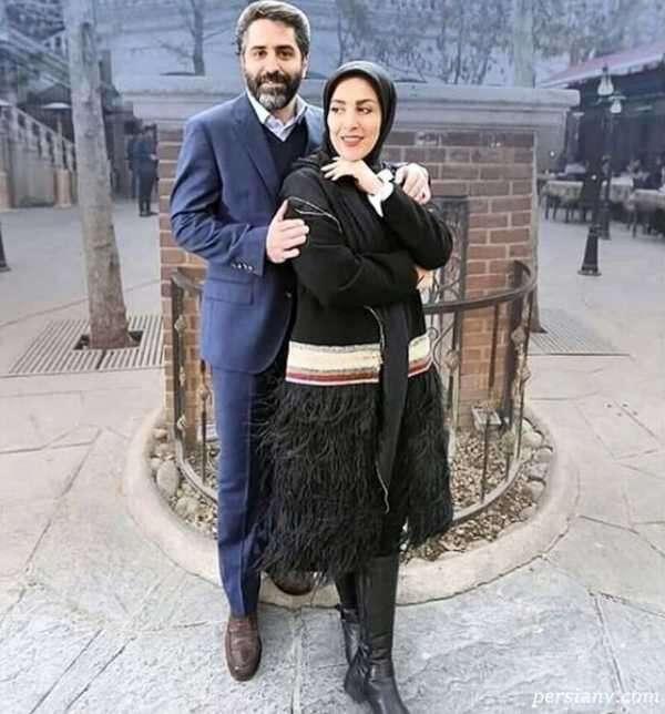 عکس ژیلا صادقی و همسر