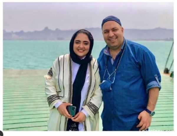 علی اوجی و همسر بازیگرش