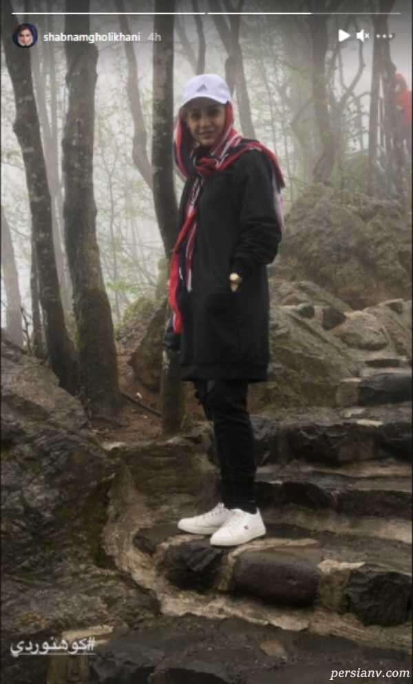 شبنم قلی خانی در طبیعت
